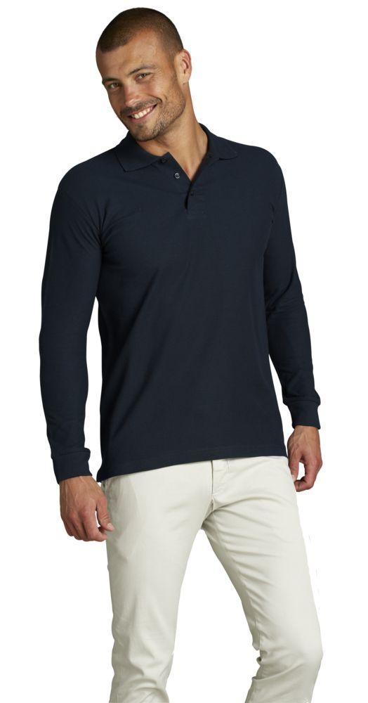 4bcb8520c1ae Рубашка поло мужская с длинным рукавом STAR 170, белая